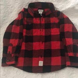 Black and red checkered button up shirt